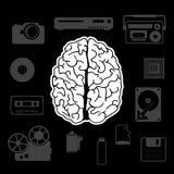从人脑的创新 库存图片