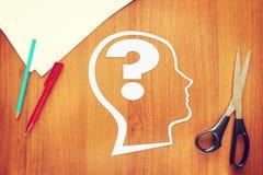 人脑的心理学 免版税库存照片