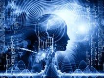 人脑的数字 免版税库存图片