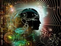 人脑的现实 库存照片