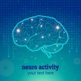 人脑神经系统活动 库存例证