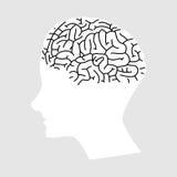 人脑象 库存图片