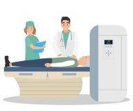 人脑X线体层照相术在医院 免版税库存图片