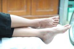 人脚的照片,版本7 免版税库存照片