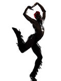 人舞蹈演员跳舞 图库摄影