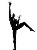 人舞蹈演员跳舞 免版税库存照片