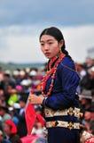 人舞蹈西藏舞蹈 免版税库存图片
