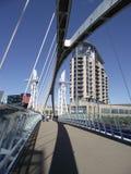 人行桥码头salford 免版税库存图片