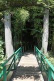 人行桥,透视 库存图片
