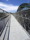 人行桥merrimack河 图库摄影