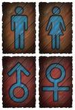人被隔绝的妇女标志 库存照片
