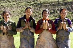 人西藏 免版税库存照片