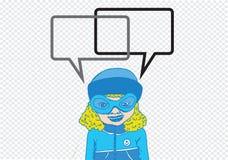人认为和人谈话与对话讲话泡影 库存照片