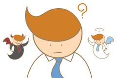 人认为的天使和恶魔头脑 免版税库存图片