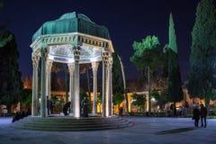 人诗人Hafez参观坟茔  免版税图库摄影