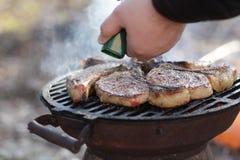 人调味料猪肉 免版税图库摄影