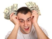 人货币年轻人 免版税库存照片