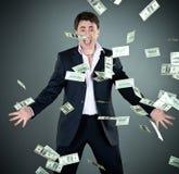 人货币诉讼投掷 免版税库存图片