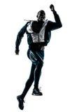 人赛跑者短跑选手慢跑者剪影 免版税库存图片