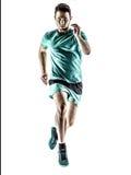人赛跑者被隔绝的慢跑者赛跑 库存照片