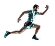 人赛跑者被隔绝的慢跑者赛跑 图库摄影