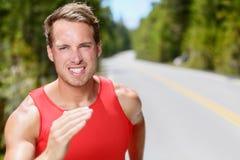 人赛跑者连续耐力训练跑步 免版税图库摄影