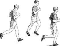 人跑步 免版税库存照片