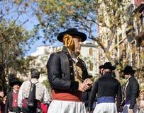 人跳舞在巴伦西亚,西班牙 库存照片