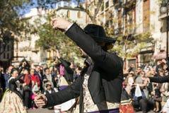 人跳舞在巴伦西亚,西班牙 免版税库存照片