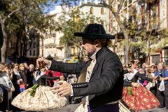 人跳舞在巴伦西亚,西班牙 图库摄影