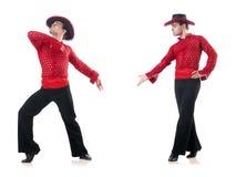 人跳舞的西班牙人在白色跳舞 图库摄影