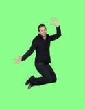 年轻黑人跳跃 免版税库存照片