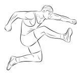 人跳,导航例证 免版税库存照片