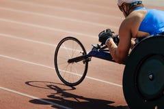 人轮椅竟赛者 免版税图库摄影
