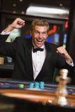 人轮盘赌表赢取 免版税库存照片