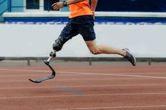 人运动员赛跑者假腿肢体 库存图片