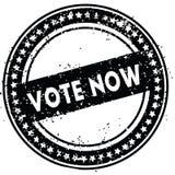 黑人选票现在困厄了与难看的东西纹理的不加考虑表赞同的人 免版税库存照片