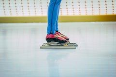 人速度溜冰者 免版税库存图片