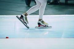 人速度溜冰者 图库摄影