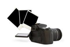 从人造偏光板的照相机和foto 免版税库存图片