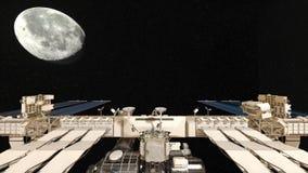 人造卫星 向量例证