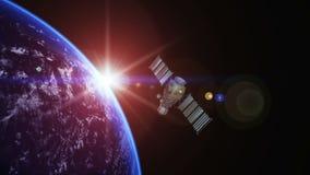 人造卫星 皇族释放例证