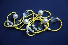 人造珠宝项链塑料 免版税库存图片