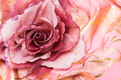 人造花粉红色 库存图片
