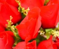 人造花美丽的玫瑰 免版税库存照片