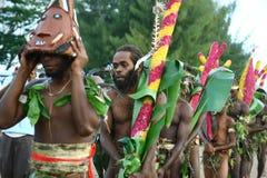 人部族瓦努阿图村庄 库存图片