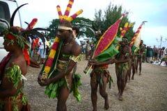 人部族瓦努阿图村庄 免版税库存照片