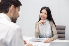 人采访工作申请书概念 免版税库存图片