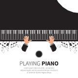 人钢琴使用 库存图片