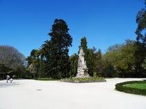 人阿拉米达庭院-圣地亚哥孔波斯特拉-西班牙 免版税图库摄影